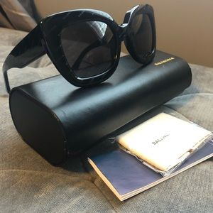 Authentic Balenciaga sunglasses used twice